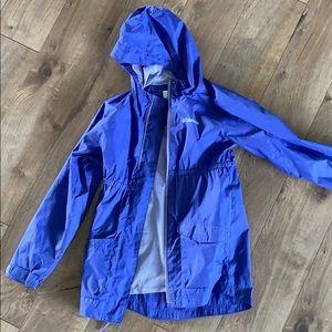 Girls Columbia rain Jacket with hood and pockets